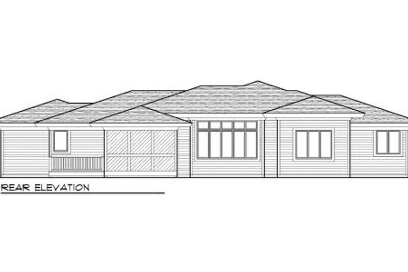 Modern Exterior - Rear Elevation Plan #70-1004 - Houseplans.com