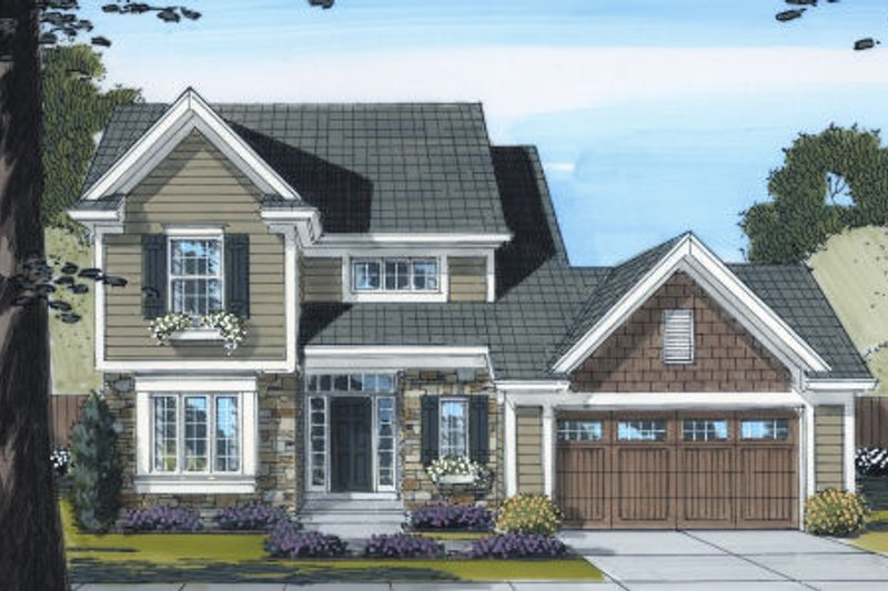 Traditional Exterior - Front Elevation Plan #46-438 - Houseplans.com