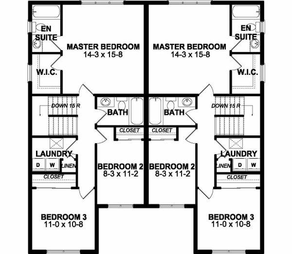 Dream House Plan - Craftsman Floor Plan - Upper Floor Plan #126-203