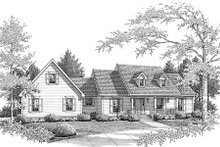 Country Exterior - Front Elevation Plan #14-236