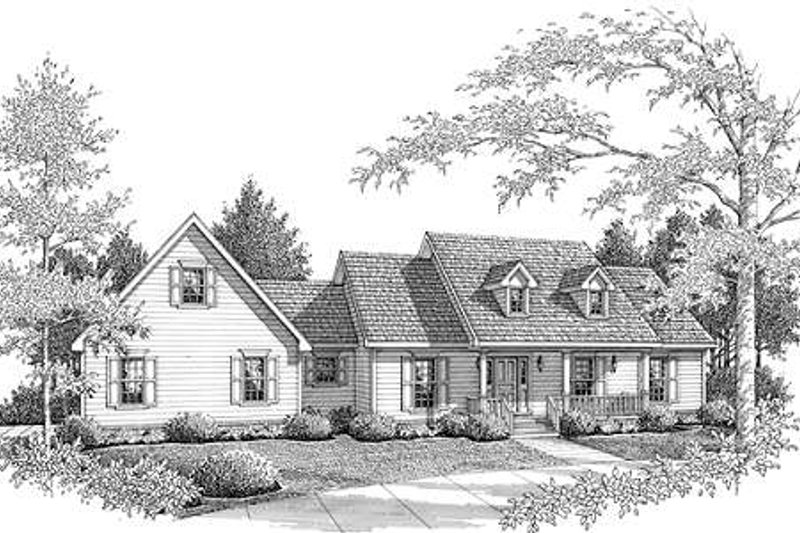 Dream House Plan - Country Exterior - Front Elevation Plan #14-236
