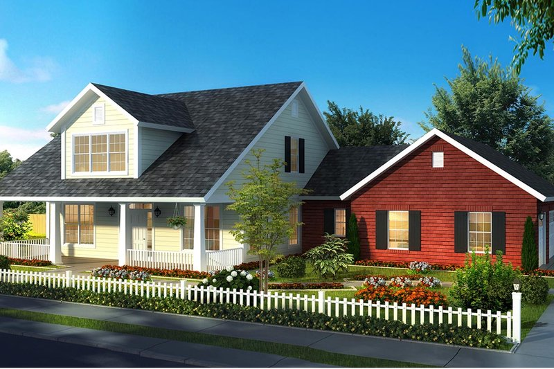 House Plan Design - Traditional Exterior - Front Elevation Plan #513-2171