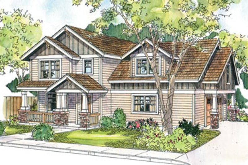 Craftsman Exterior - Front Elevation Plan #124-623