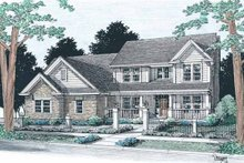 Home Plan Design - Traditional Exterior - Front Elevation Plan #20-314