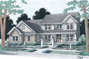 Traditional Exterior - Front Elevation Plan #20-314