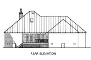 Southern Style House Plan - 3 Beds 2 Baths 1800 Sq/Ft Plan #45-125 Exterior - Rear Elevation