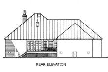 Southern Exterior - Rear Elevation Plan #45-125