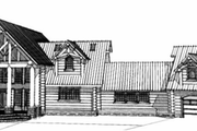 Log Style House Plan - 4 Beds 4.5 Baths 7819 Sq/Ft Plan #451-3 Exterior - Rear Elevation