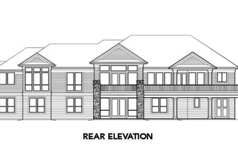Ranch Exterior - Rear Elevation Plan #48-301 - Houseplans.com