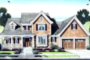 Craftsman Style House Plan - 4 Beds 2.5 Baths 2108 Sq/Ft Plan #46-429 Exterior - Front Elevation