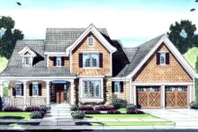 Architectural House Design - Craftsman Exterior - Front Elevation Plan #46-429