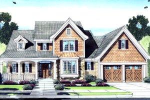 Craftsman Exterior - Front Elevation Plan #46-429