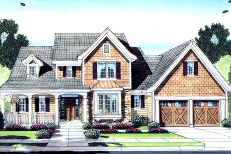 Architectural House Design - Craftsman Exterior - Front Elevation Plan #46-429