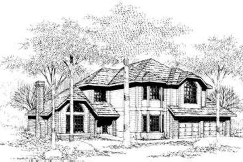 Traditional Style House Plan - 3 Beds 3 Baths 2465 Sq/Ft Plan #305-108 Exterior - Front Elevation