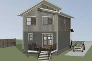 Modern Style House Plan - 3 Beds 2.5 Baths 1265 Sq/Ft Plan #79-291 Exterior - Other Elevation