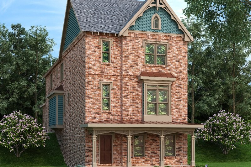 Victorian Style House Plan - 3 Beds 3.5 Baths 3430 Sq/Ft Plan #419-318 Exterior - Front Elevation