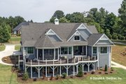 Craftsman Style House Plan - 4 Beds 4 Baths 2966 Sq/Ft Plan #929-988 Exterior - Rear Elevation