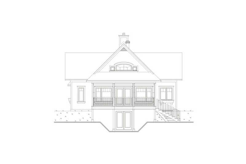 Southern Exterior - Rear Elevation Plan #23-2038 - Houseplans.com