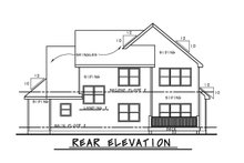 Home Plan - Traditional Exterior - Rear Elevation Plan #20-2278
