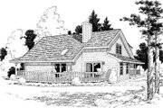 Country Style House Plan - 3 Beds 2.5 Baths 1907 Sq/Ft Plan #312-246 Exterior - Rear Elevation