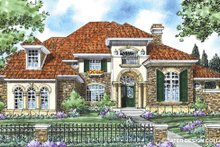 House Plan Design - Mediterranean Exterior - Front Elevation Plan #930-266
