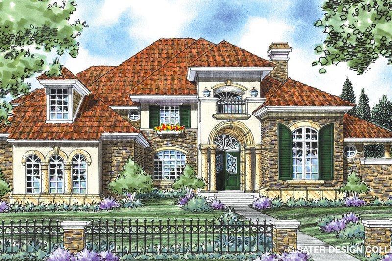 Architectural House Design - Mediterranean Exterior - Front Elevation Plan #930-266