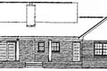 European Exterior - Rear Elevation Plan #14-115