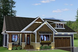 Craftsman Exterior - Front Elevation Plan #51-519