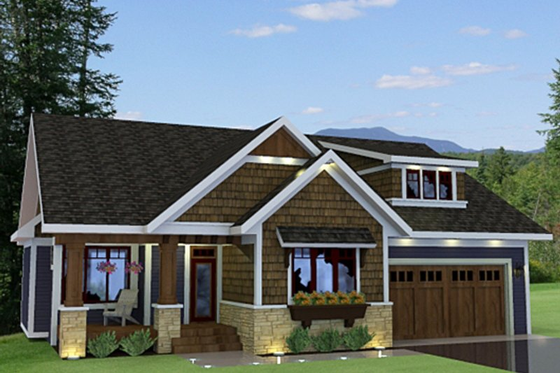 Dream House Plan - Craftsman Exterior - Front Elevation Plan #51-519