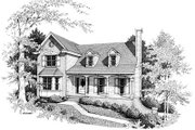 Farmhouse Style House Plan - 3 Beds 2.5 Baths 1830 Sq/Ft Plan #10-217 Exterior - Front Elevation