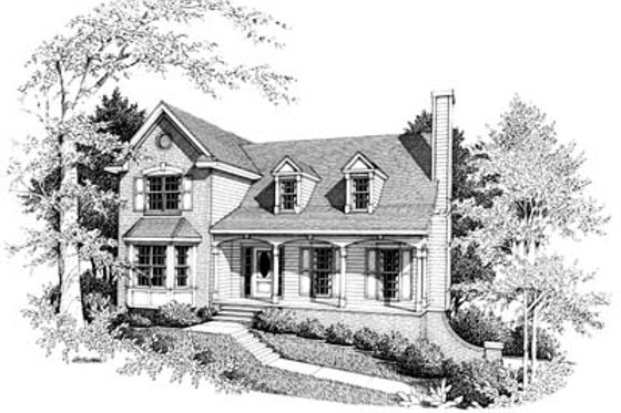 Farmhouse Exterior - Front Elevation Plan #10-217
