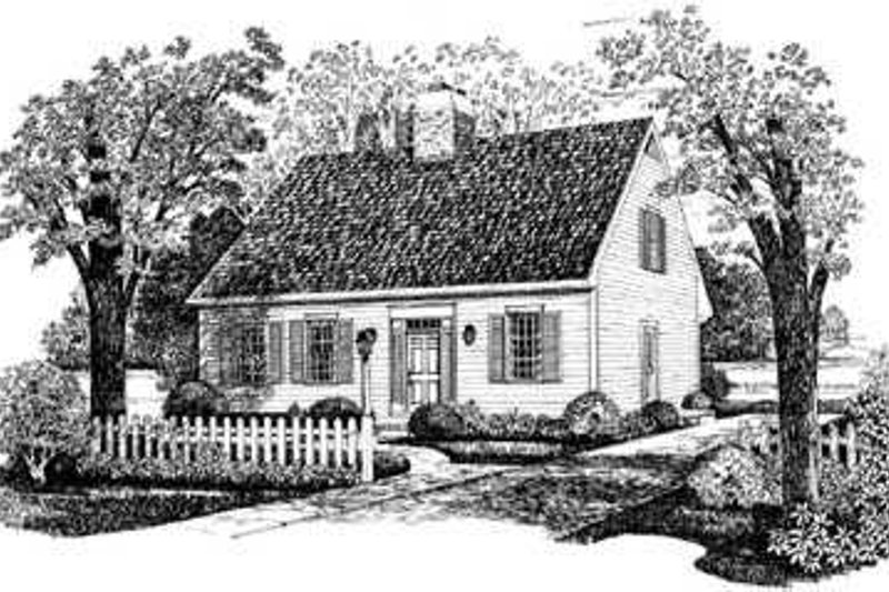 Architectural House Design - Colonial Exterior - Front Elevation Plan #72-120