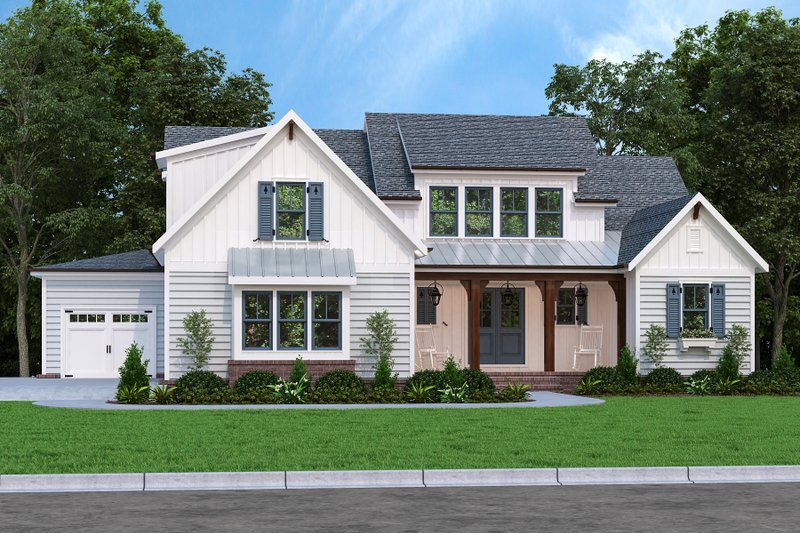 House Plan Design - Farmhouse Exterior - Front Elevation Plan #927-1009