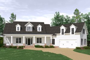 Architectural House Design - Farmhouse Exterior - Front Elevation Plan #1071-4