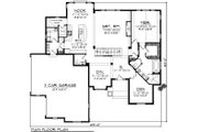 Traditional Style House Plan - 4 Beds 3.5 Baths 3189 Sq/Ft Plan #70-1107 Floor Plan - Main Floor