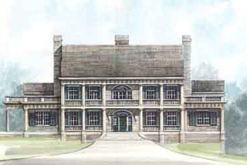 European Exterior - Front Elevation Plan #119-186