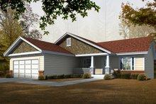 Architectural House Design - Craftsman Exterior - Front Elevation Plan #112-162