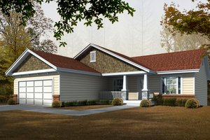 Craftsman Exterior - Front Elevation Plan #112-162