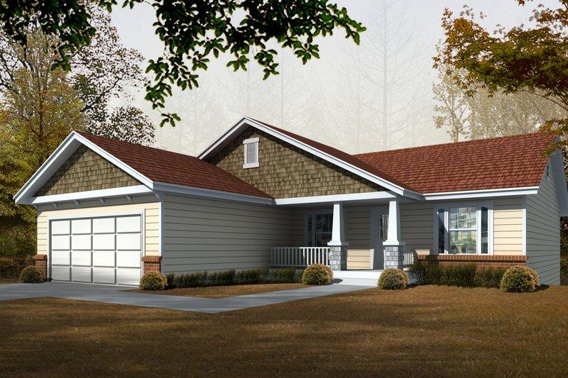Dream House Plan - Craftsman Exterior - Front Elevation Plan #112-162