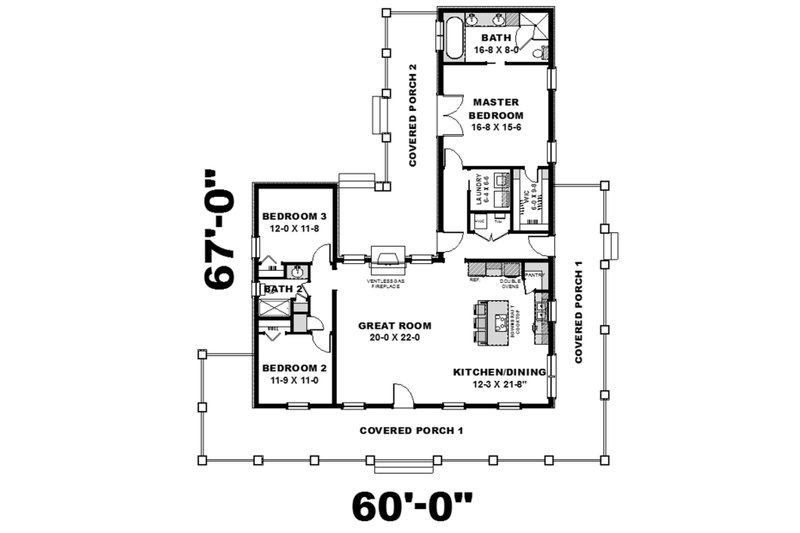 Country Floor Plan - Main Floor Plan Plan #44-196