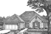 European Style House Plan - 3 Beds 2 Baths 1773 Sq/Ft Plan #310-420 Exterior - Front Elevation