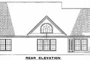 Country Style House Plan - 4 Beds 2.5 Baths 2685 Sq/Ft Plan #17-2069 Exterior - Rear Elevation