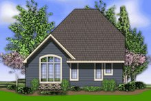 Cottage Exterior - Rear Elevation Plan #48-374