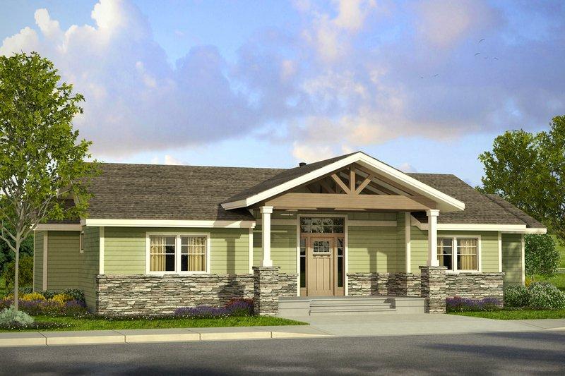 Home Plan - Prairie Exterior - Front Elevation Plan #124-1006