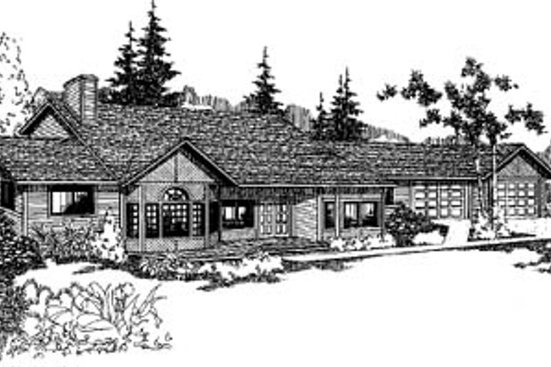 Traditional Exterior - Front Elevation Plan #60-131 - Houseplans.com