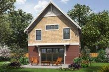 Craftsman Exterior - Rear Elevation Plan #48-490