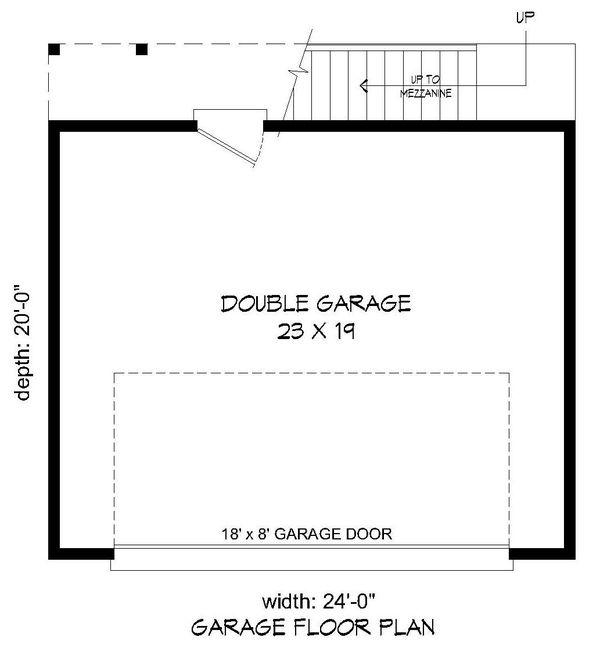 Contemporary Floor Plan - Main Floor Plan Plan #932-231