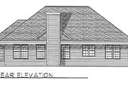 Traditional Style House Plan - 3 Beds 2.5 Baths 1596 Sq/Ft Plan #70-154 Exterior - Rear Elevation
