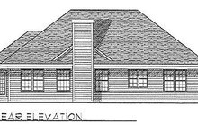 House Plan Design - Traditional Exterior - Rear Elevation Plan #70-154