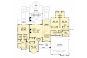 European Style House Plan - 4 Beds 3 Baths 2453 Sq/Ft Plan #929-1056 Floor Plan - Main Floor